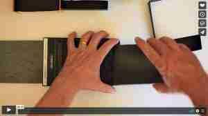 loading double dark film holder