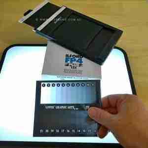 Film speed test Ilford FP4