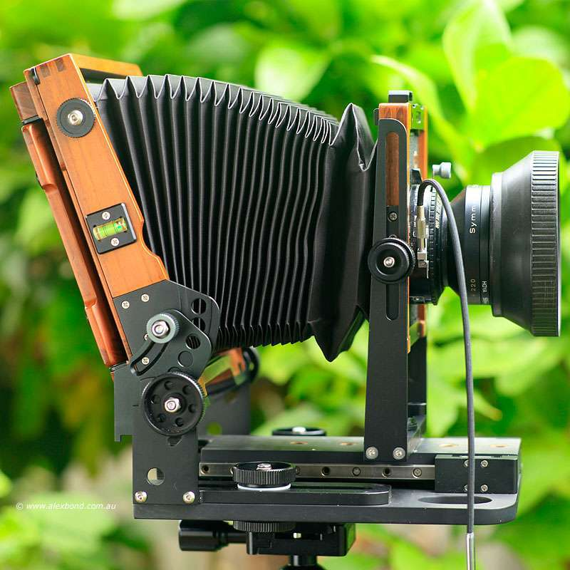 large-format camera movements back tilt